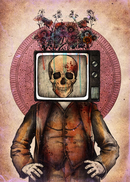 Skull Illustration by Alisa Grace