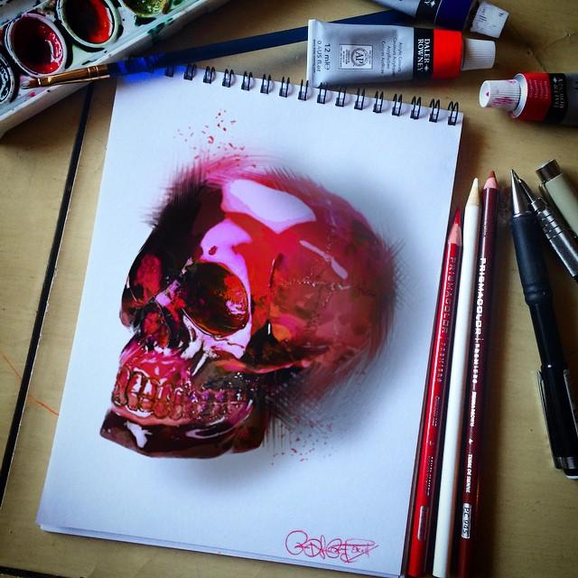 Skull Drawings by Ruben WestSide Ramos (2)