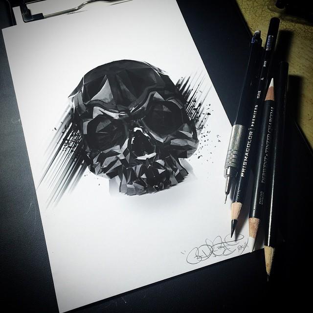 Skull Drawings by Ruben WestSide Ramos (3)