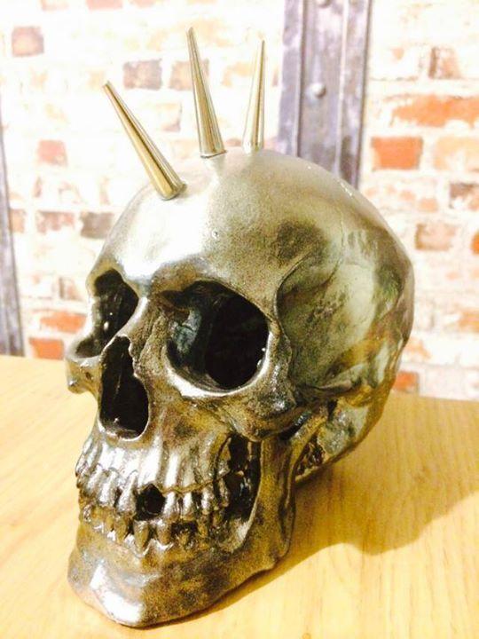 gold punk skull