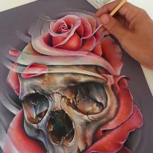 Skull Illustration by Fernando De Paiva