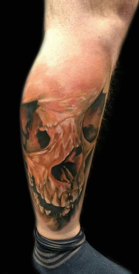 Skull tattoo Sebastian Nowacki (2)