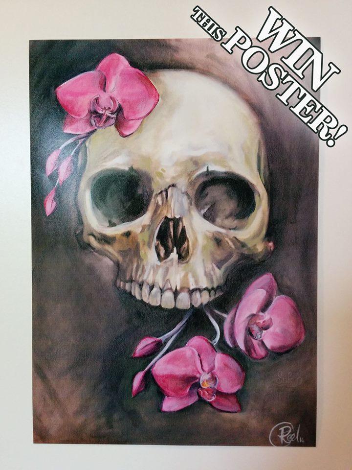 Win a Skull Poster by Rich Peel