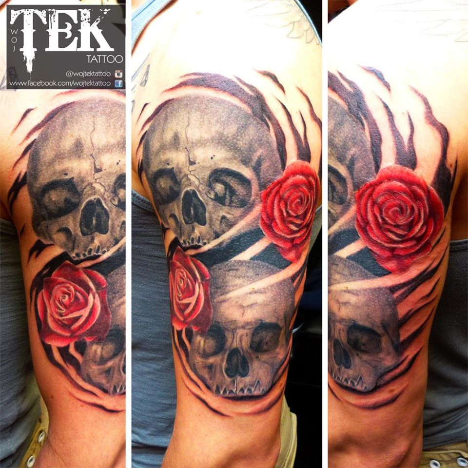 tek tattoo skull