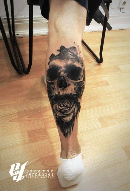 Eduardo Fernandes skull tattoo (2)