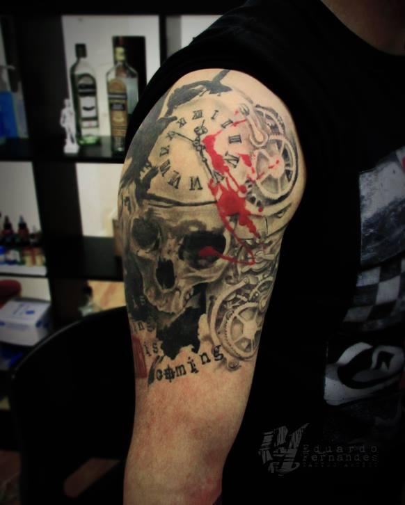 Eduardo Fernandes skull tattoo (3)