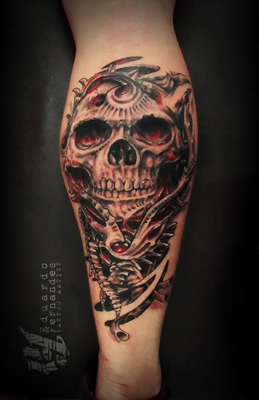 Eduardo Fernandes skull tattoo (4)