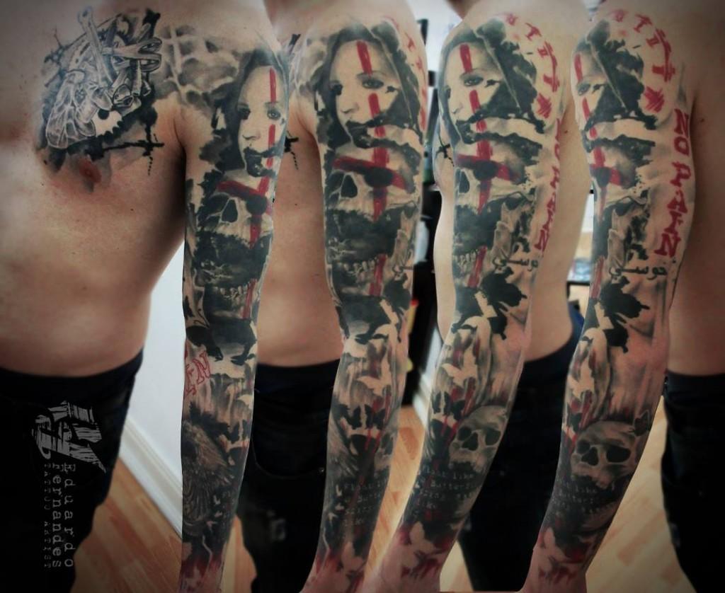 Eduardo Fernandes skull tattoo (5)