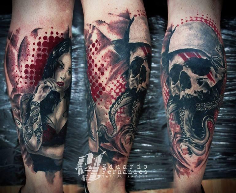 Skull Tattoo by Eduardo Fernandes