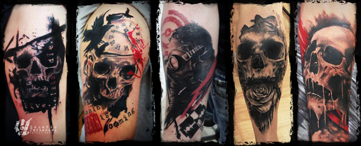 Skull Tattoos by Eduardo Fernandes