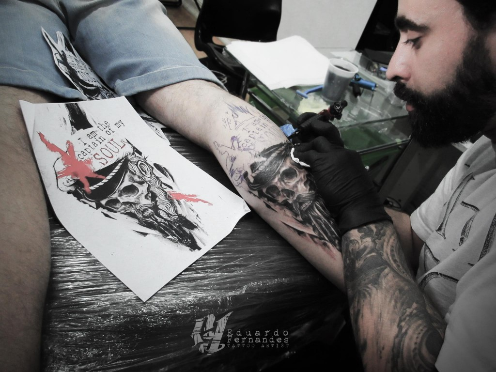 sailor Skull Tattoo by Eduardo Fernandes (2)
