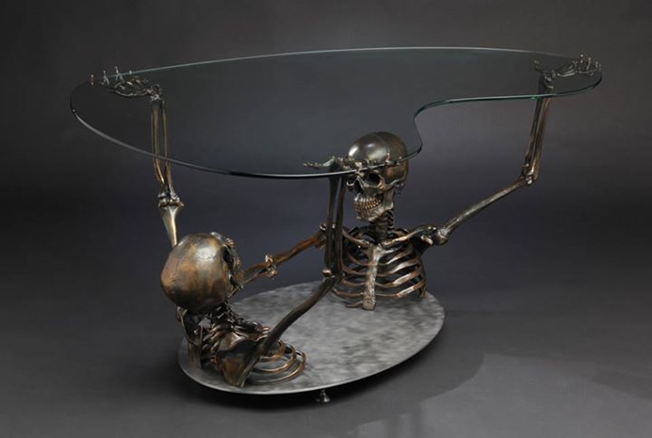 skull coffee table