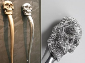 Skull Door Handle by Philip Watts