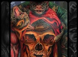 Amazing skull tattoo by Julian Siebert