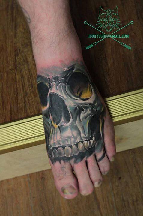 Foot Tattoo by Igoryoshi