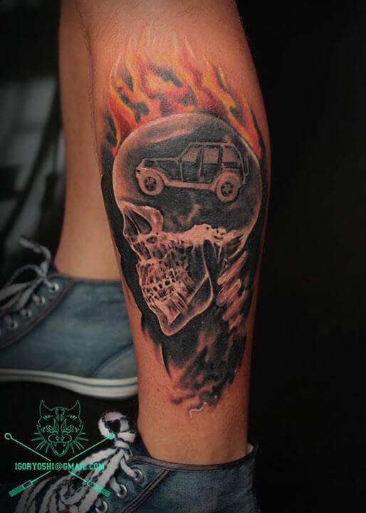 Skull Tattoo by Igoryoshi (2)