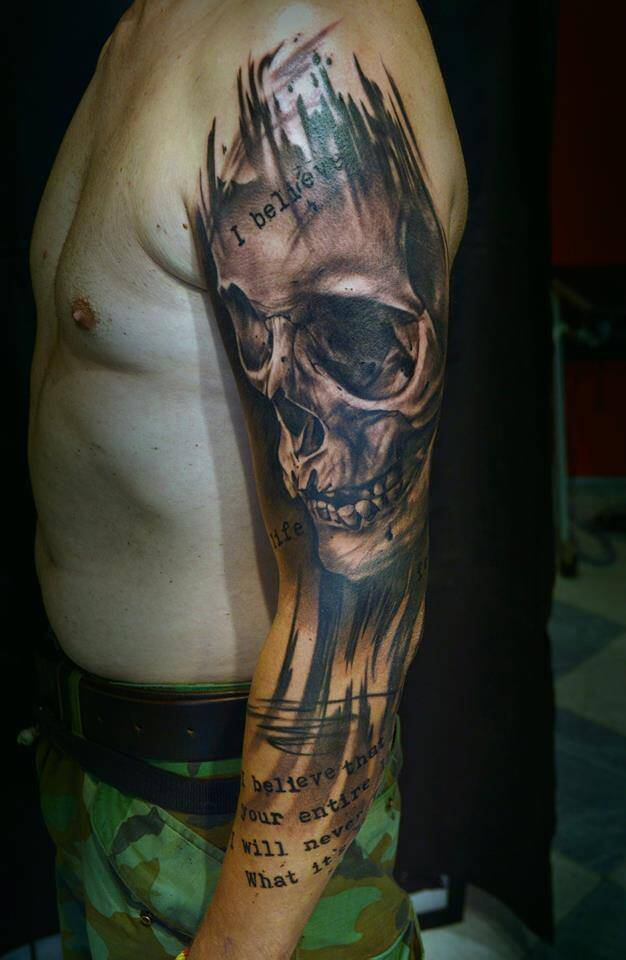 Skull Tattoo by Igoryoshi