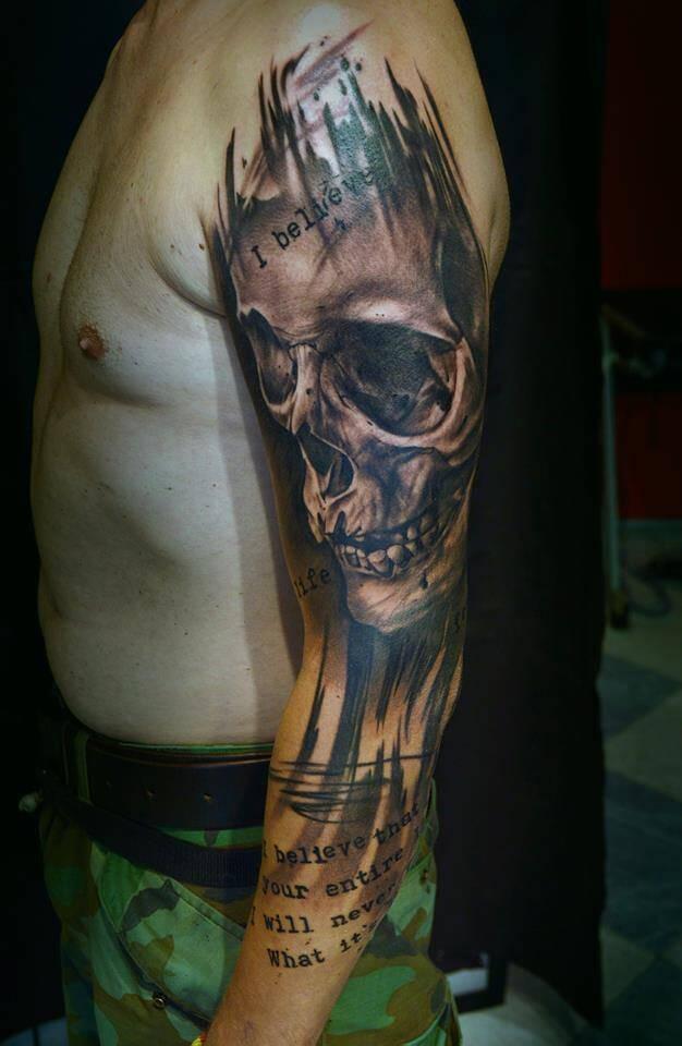 Skull Tattoo by Igoryoshi
