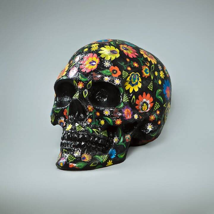 Flowers Skull.A