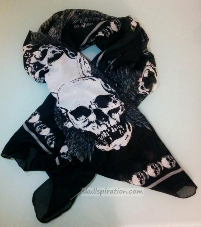 Sasha Berry London Skull Scarf