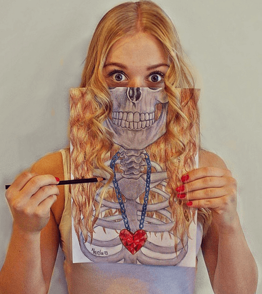 Amazing Skull Drawings by Venla Hannola (2)
