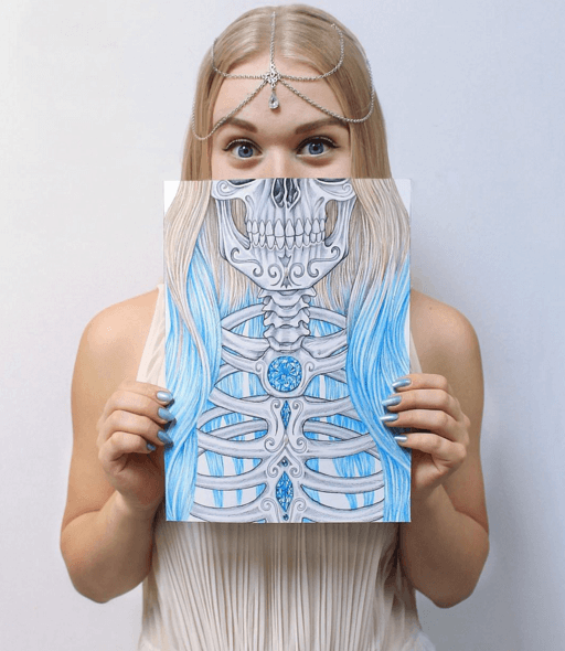 Amazing Skull Drawings by Venla Hannola