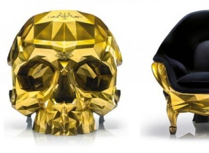 Gold Skull Armchair from Harow