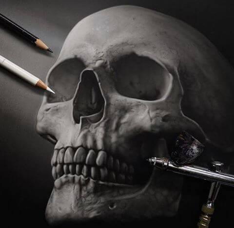 Jay Ferguson airbrush, inks and pencils