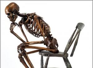 Life Size Bronze Skeletons by Björn Sjöling