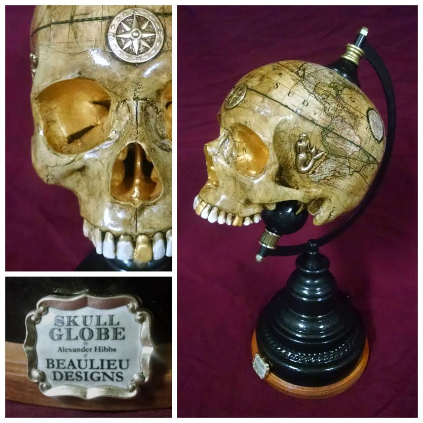 Skull Globes by Beaulieu Designs