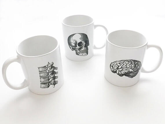 art altered mugs