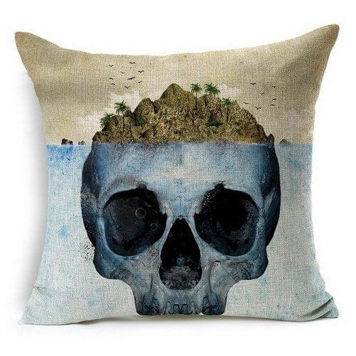 skull island pillow