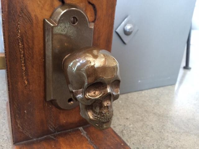 Metal Skull Door Knob