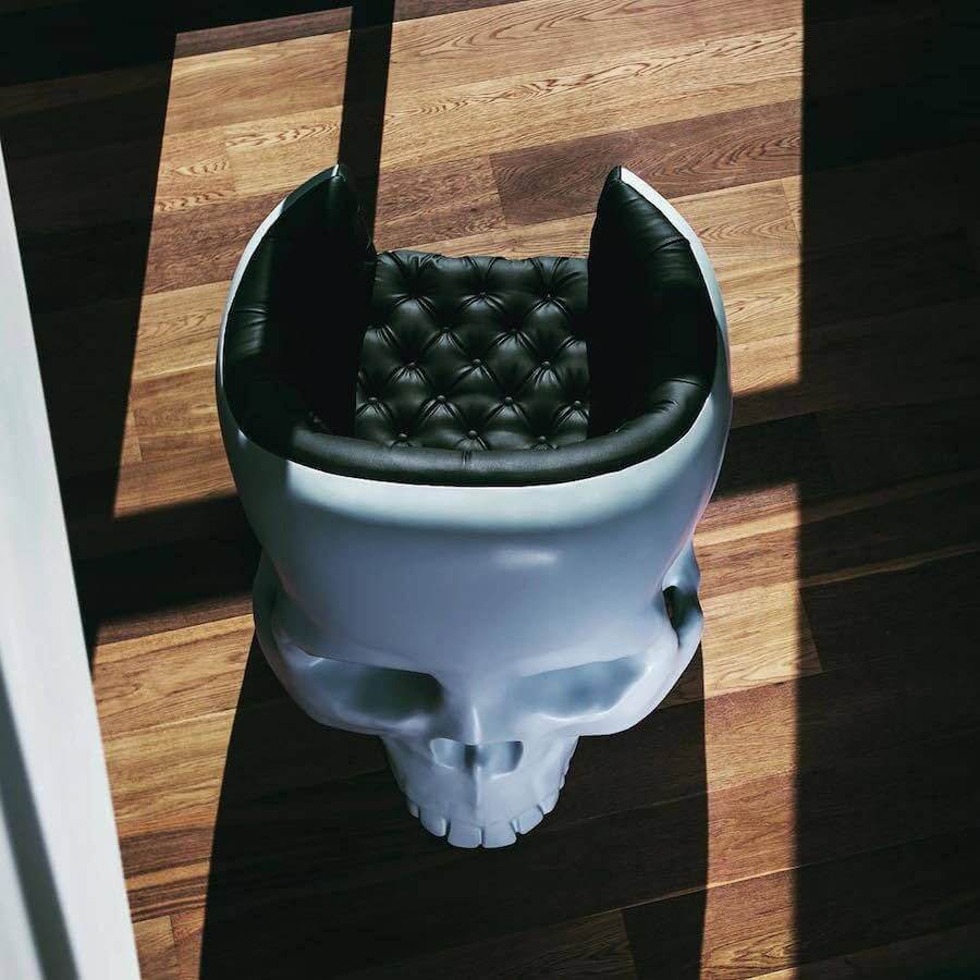 Skull Armchair Designed by Gregory Besson