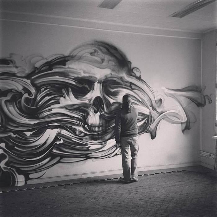 Skull artwork by Steve Locatelli