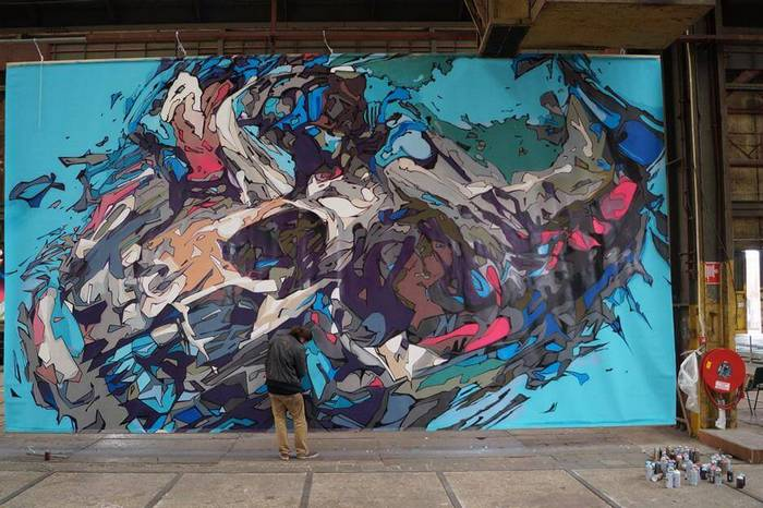 Skull mural by Steve Locatelli