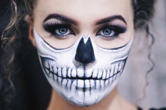 half-skull-makeup