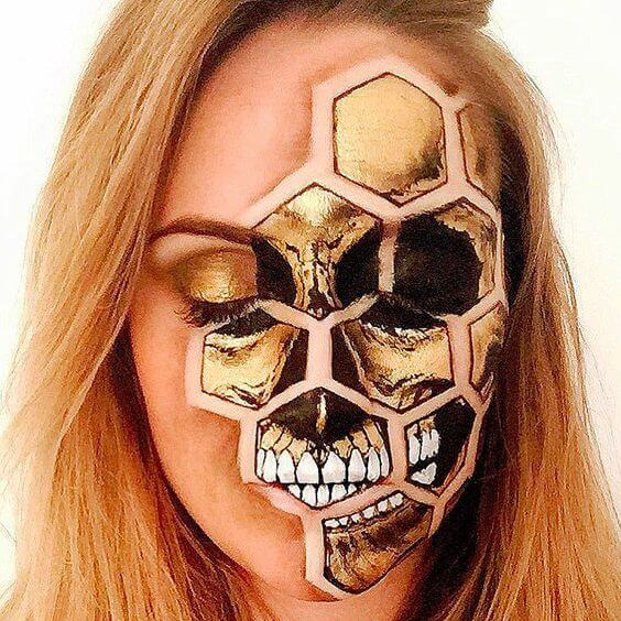 honey-skull-makeup