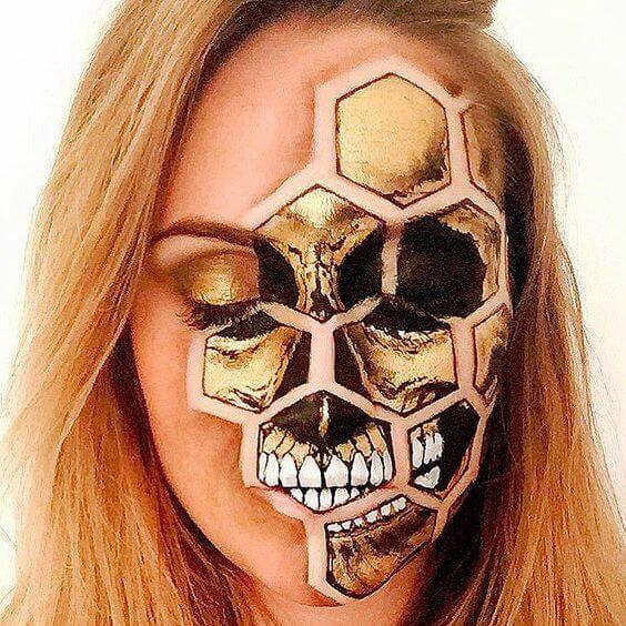 honey-skull-makeup