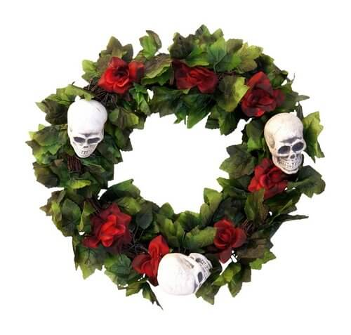 skull-and-red-rose-wreath