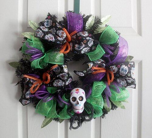 sugar-skull-wreath