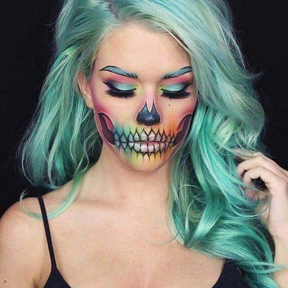 colorful-skull-face-painting