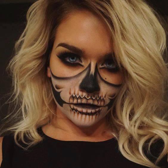half-skull-face-painting-2