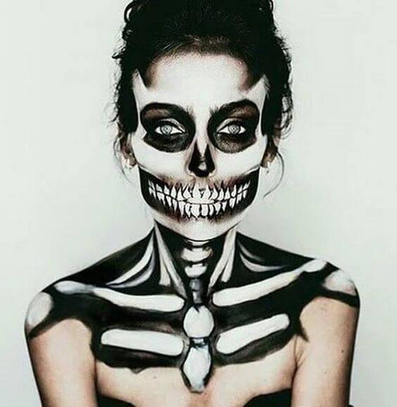 skeleton-makeup-idea