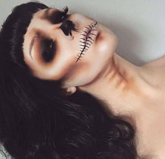 skull-makeup-idea
