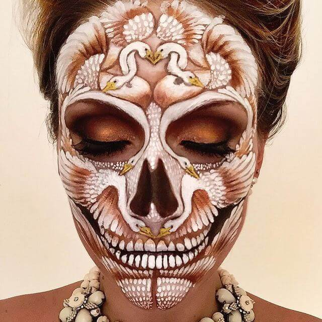 Birds of a Feather Skull Makeup