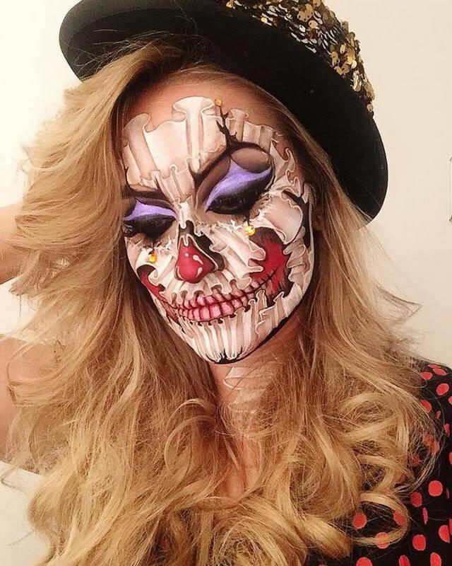 Ruffle Skull Clown