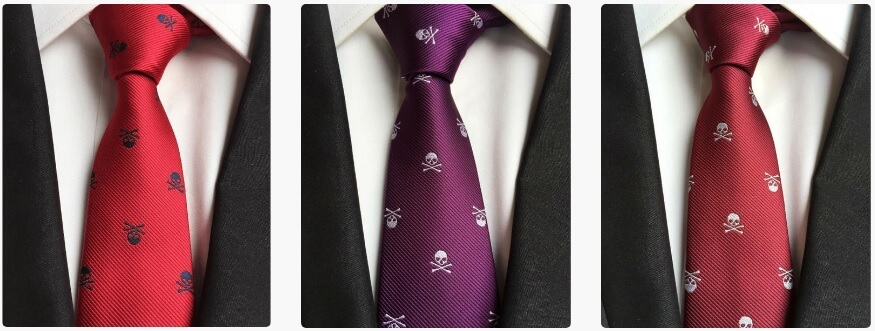 Sidicle Skull Neckties